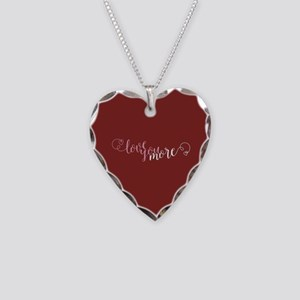 I Love You More Necklace Heart Charm