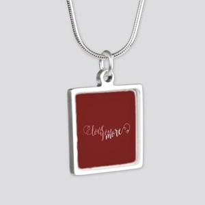I Love You More Silver Square Necklace
