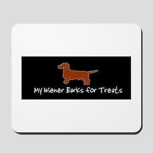 Wiener Barks Mousepad