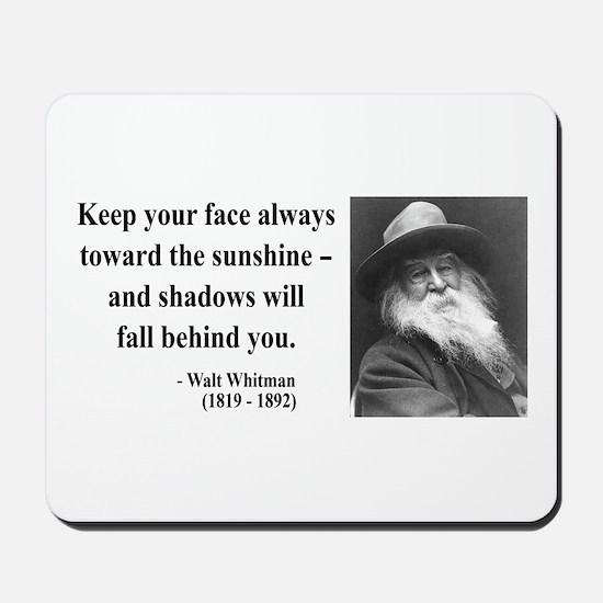 Walter Whitman 3 Mousepad