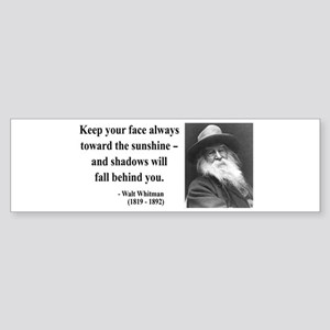 Walter Whitman 3 Bumper Sticker