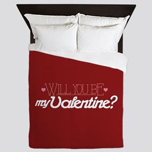 Will You Be My Valentine Queen Duvet