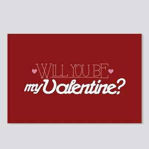 Will You Be My Valentine Postcards (Package of 8)