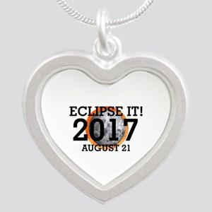 Eclipse 2017 Silver Heart Necklace
