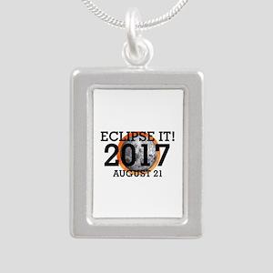 Eclipse 2017 Silver Portrait Necklace