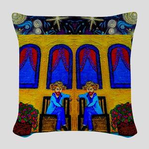 GOGH TWINS Woven Throw Pillow