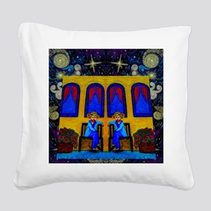 GOGH TWINS Square Canvas Pillow