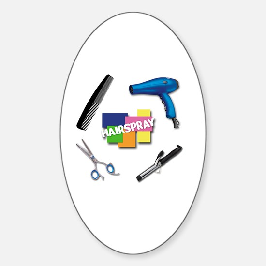 Cute Hair dresser Sticker (Oval)