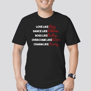 Grey's Like Characters Men's Fitted T-Shirt (dark)