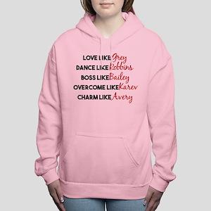Grey's Like Characters Women's Hooded Sweatshirt