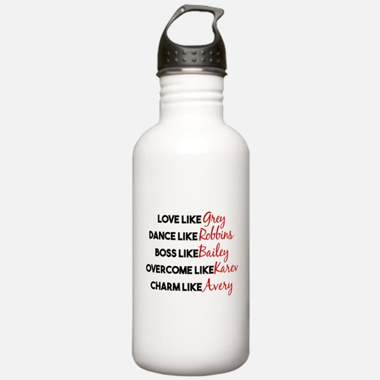 Grey's Like Characters Water Bottle