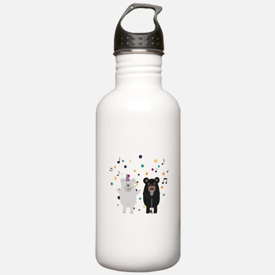 Singing Party Bears Water Bottle