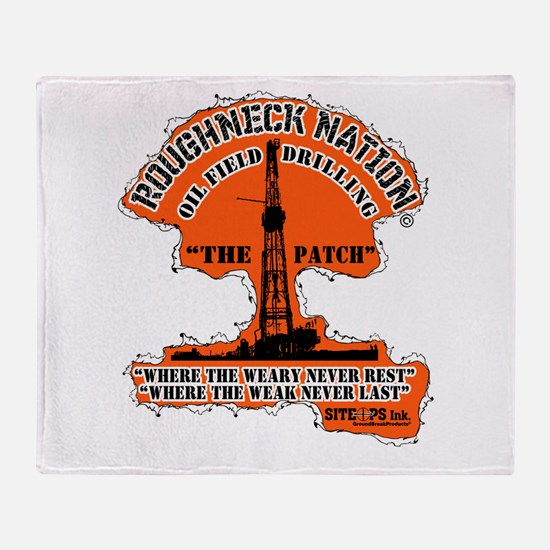 THE PATCH OILFIELD DRILLING Throw Blanket