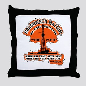 THE PATCH OILFIELD DRILLING Throw Pillow