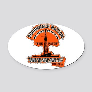 THE PATCH OILFIELD DRILLING Oval Car Magnet