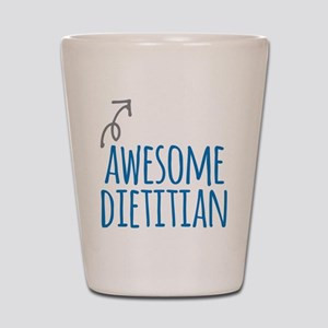 Awesome dietitian Shot Glass