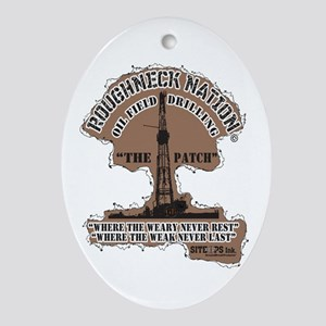 THE PATCH OILFIELD DRILLING Oval Ornament