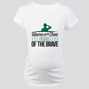 Army Home Free Braves Maternity T-Shirt