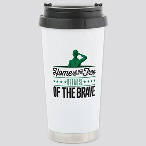 Army Home Free Braves Stainless Steel Travel Mug