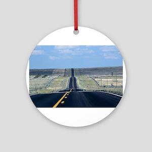 open road Round Ornament