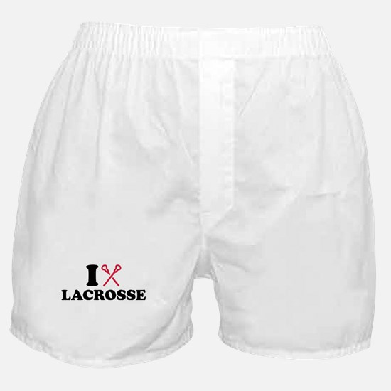 I love Lacrosse Boxer Shorts