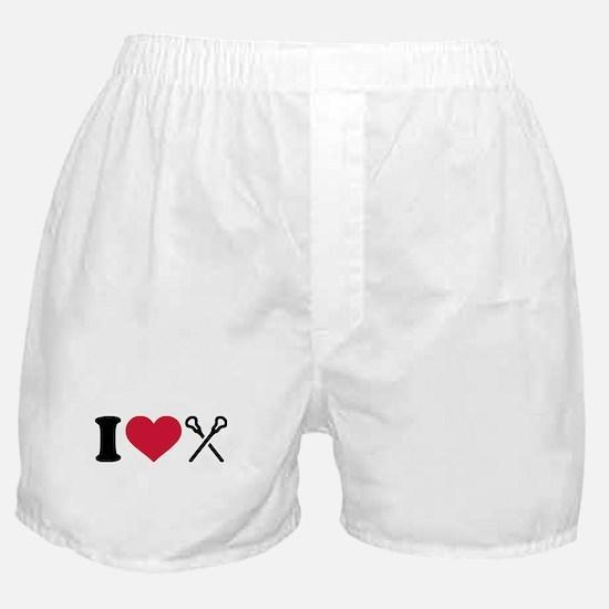 I love Lacrosse sticks Boxer Shorts
