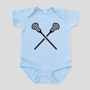 Crossed lacrosse sticks Body Suit