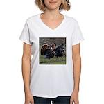 Four Gobblers Women's V-Neck T-Shirt