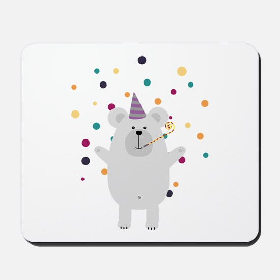 Party Polar Bear Mousepad