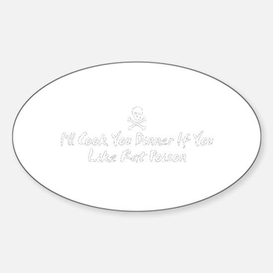 Rat Poison Oval Decal