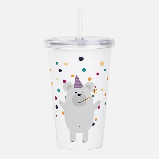 Party Polar Bear Acrylic Double-wall Tumbler