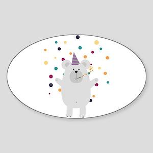 Party Polar Bear Sticker