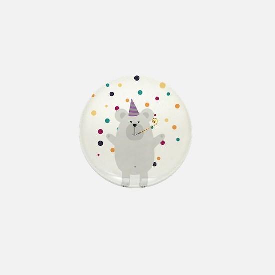 Party Polar Bear Mini Button (100 pack)