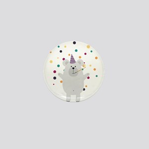 Party Polar Bear Mini Button