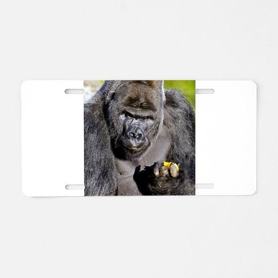 GORILLAS LUNCH Aluminum License Plate