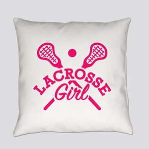 Lacrosse girl Everyday Pillow