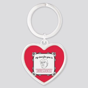 My Love is Unpresidented Heart Keychain