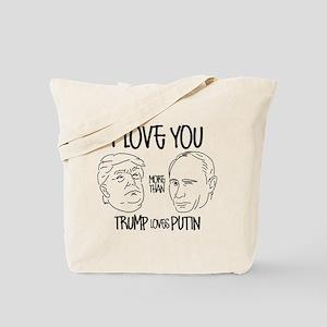 Trump Loves Putin Tote Bag