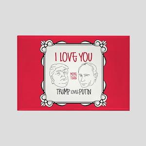 Trump Loves Putin Rectangle Magnet