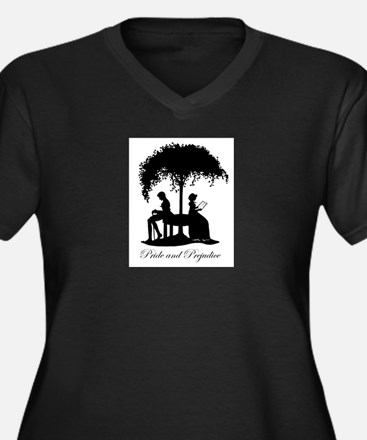 Pride and Prejudice Darcy and Lizzie Plus Size T-S