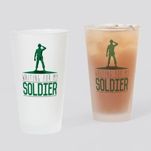 Army Waiting for my Soldier Drinking Glass