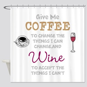 Coffee And Wine Shower Curtain
