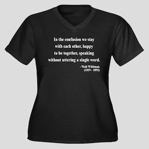 Walter Whitman 4 Women's Plus Size V-Neck Dark T-S