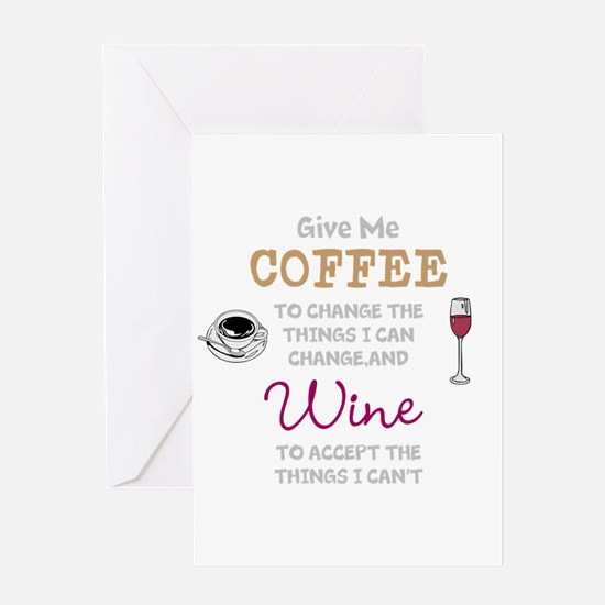 Coffee and Wine Greeting Cards