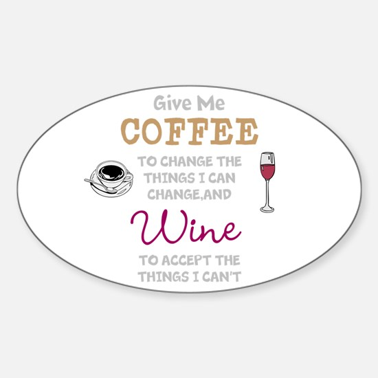 Coffee and Wine Decal