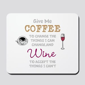 Coffee and Wine Mousepad