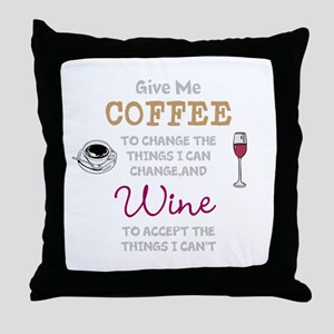Coffee and Wine Throw Pillow