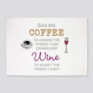 Coffee and Wine 5'x7'Area Rug