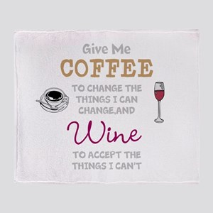 Coffee and Wine Throw Blanket