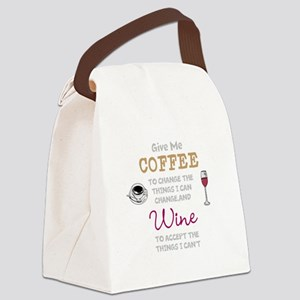 Coffee and Wine Canvas Lunch Bag